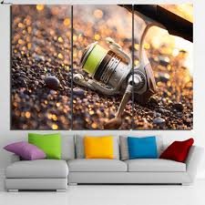 aliexpress com buy hd printed 3 piece canvas art fishing gear aliexpress com buy hd printed 3 piece canvas art fishing gear hooks rod painting wall pictures for living room canvas prints free shipping ny 6934c from