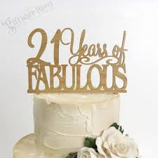 21 cake topper 21 fabulous birthday cake topper bamboo any age