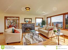 living room in light ivory tones stock photo image 42489273