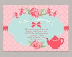Tea Party Invitation Card Shabby Chic Invitation Tea Party Invitation Birthday