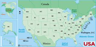 us state abbreviations map us states latitude and longitude
