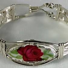 clasp cuff bracelet images Wire wrapped wire formed sterling silver antique china cuff jpg