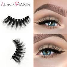 3d extensions arison false eyelashes transparent plastic 3d mink lashes