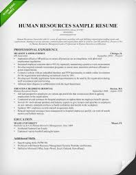 How To Write Bachelor S Degree On Resume Human Resources Hr Resume Sample U0026 Writing Tips