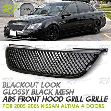 nissan altima 2015 lebanon upgrade for 02 04 nissan altima jdm gloss black 3d mesh front hood
