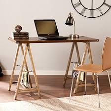 southern enterprises writing desk amazon com southern enterprises downing sawhorse writing desk in