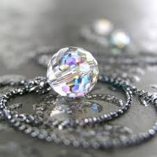 silver crystal ball necklace images Best crystal prism necklace products on wanelo jpg