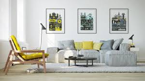 grey living room with blue and yellow accents aecagra org