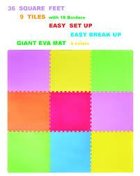 36 sqft giant play mat 9 tile excise mat easy setup solid eva foam
