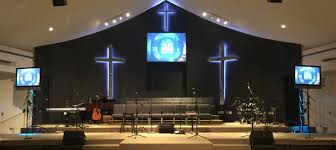 church crosses neon crosses church stage design ideas