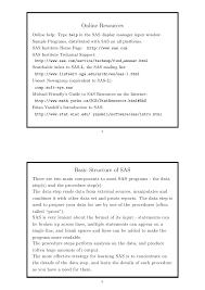 Sas Resume Sample by Introduction To Sas