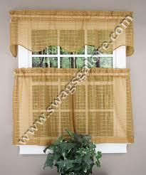 lexington sheer kitchen curtains u2013 gold u2013 achim curtains