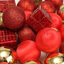 24pcs glitter baubles shatterproof ball christmas tree decoration