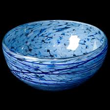 midnight blue blown confetti saladier bowl dia 26cm mayalma