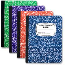 wholesale composition book assorted colors bags in bulk