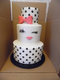 bridal shower cake with dots cakecentral com