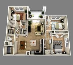 4 Bdrm House Plans 2 25 More 2 Bedroom 3d Floor Plans 4 Bedroom House Plans 3d 1