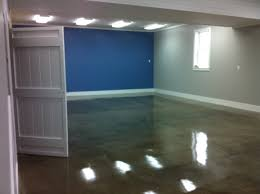 steel gray epoxy in finished basement epoxy overlays for