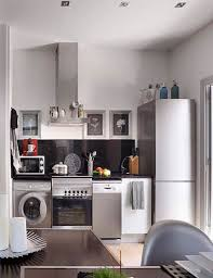 inspirational laundry in kitchen design ideas for small spaces