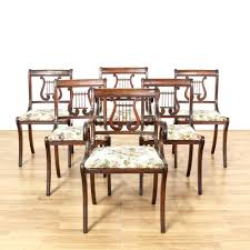 Duncan Phyfe Dining Room Set Set Of 6 Duncan Phyfe Lyre Back Dining Chairs Duncan Phyfe