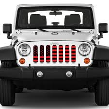 jeep wrangler red american black and red jeep grille insert dirty acres u2013 jeep world