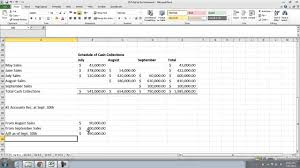 ch 9 cash collections u0026 production budget youtube