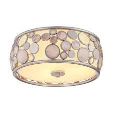 Quoizel Flush Mount Ceiling Light Shop Quoizel Fairgate 14 In W Silver Flush Mount Light At Lowes