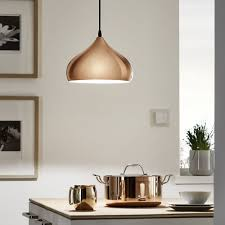Pendant Light Kitchen Eglo 49449 Hapton Polished Copper Pendant Light Pendulum