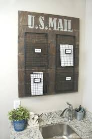 Office Wall Organizer Wall Mounted Mail Organizer A 2 Slot Bamboo Organizerwire Sorter