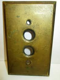 old push button light switches vintage push button switch cover antique single brass light plate