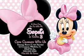 baby minnie mouse invitations baby shower baby minnie invite