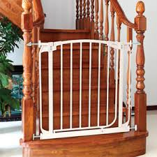 Top Of Stairs Baby Gate With Banister Best Infant U0026 Baby Safety Gates For Top And Bottom Of Stairs A