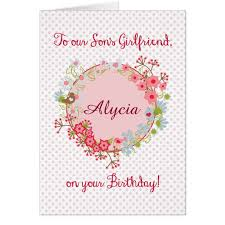 happy birthday to our son u0027s girlfriend birds card zazzle com