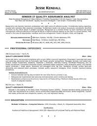 Qa Tester Resume Samples by Software Quality Assurance Resume Entry Level Software Quality