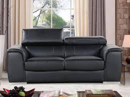 canap cuir mobilier de canape cuir reconstitue pvc bari 2 places noi 86304 86305
