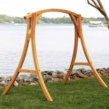 Hammock With Wooden Stand Stylish Wooden Hammock Stands Dfohome