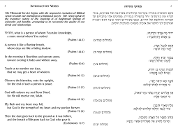 yizkor prayer in book of remembrance