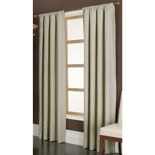 Brown And Ivory Curtains Shop Allen Roth Parksley 84 In Ivory Cotton Rod Pocket Light
