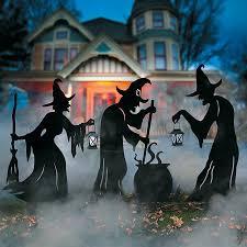 witches u0026 cauldron silhouette outdoor halloween decoration