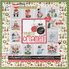 yearly ornaments scrapbook page the creative copycat