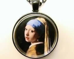 vermeer pearl necklace johannes vermeer etsy
