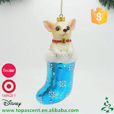china factory wholesale hand painted blown glass dog christmas