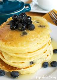 pancakes with warm buttermilk syrup