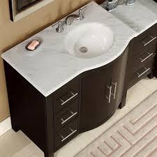 Bathroom Vanities With Marble Tops 54 Modern Single Bathroom Vanity Espresso With Carrara White