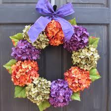 halloween wreath purple green u0026 orange wreath for halloween front d