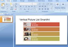 vertical picture list smartart powerpoint template