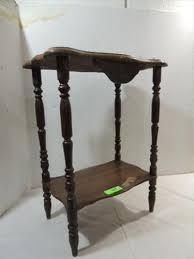 antique spindle leg side table 16x10x24 vintage wood spindle leg side table