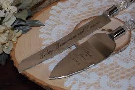wedding cake server engraved cake server set personalized cake server for weddings