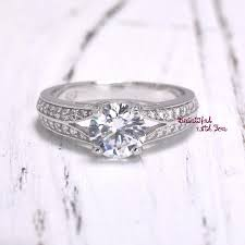 fiancee engagement ring for her wedding band gold plated