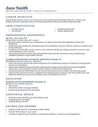 General Resume Sample by Best Resume Writing Examples Examples Objective Resume Examples